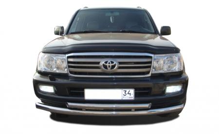 TOYOTA   Land Cruiser 100     1998-2006   Защита переднего бампера (радиус)   76/60